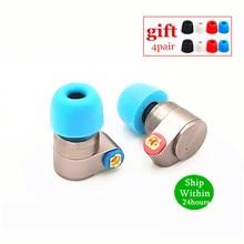 TIN Audio T2 профессиональные наушники Hifi металлические наушники в ухо двойные динамические стерео наушники бас DJ MMCX Съемная T3 T2 P1 AS10 F3