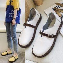 Liren 2019 Summer Fashion Casual Women Buckle Sandals Round Wrapped Breathable Comfortable Flat Heels