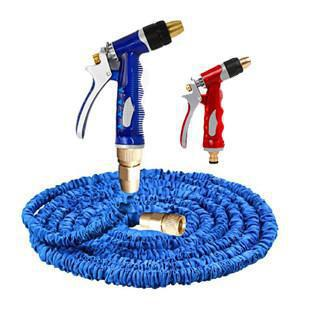 Car Washing Gun High Pressure Telescopic Pipe Spring Household Hydraulic Giant Nozzle Set Copper 20 M Cleaning Water Gun