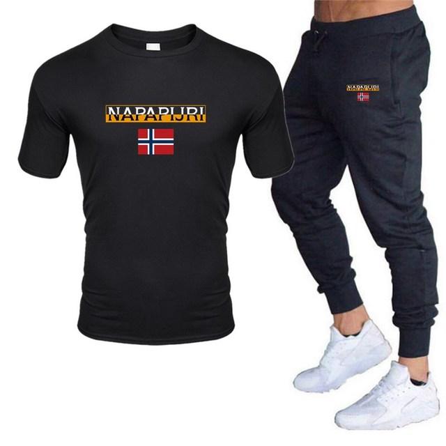 Men's sets t shirts + pants two pieces