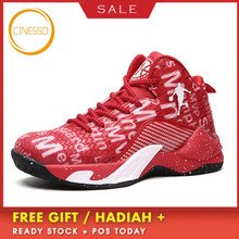 цена на CINESSD New Arrival Basketball Shoes Outdoor High-Top Jordan Shoes Sneakers Men Basket Shoes Breathable Athletic Sports Sneakers