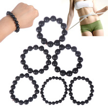 Needle Byanshi Bianshi SI Bin Hand Row Brief Bracelet Health Care 100% Real Natural Black Jade Sibin Bian Stone(China)