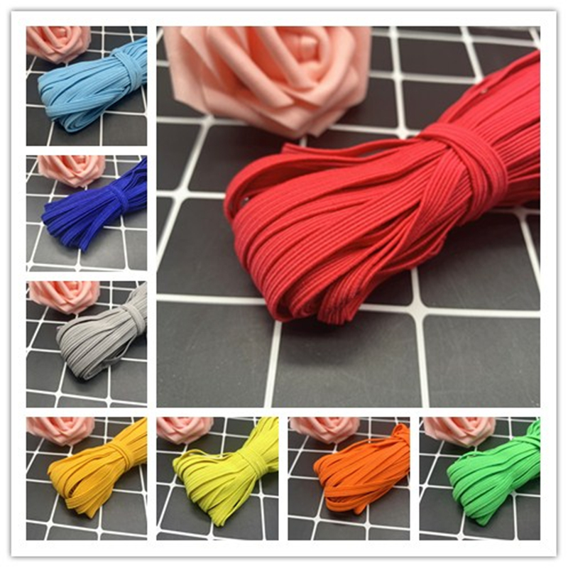 6mm 5Yards Elastic Ribbon High-Elastic Elastic Band Rubber Band Elastic Line DIY Lace Trim Sewing Waist Band Garment Accessories