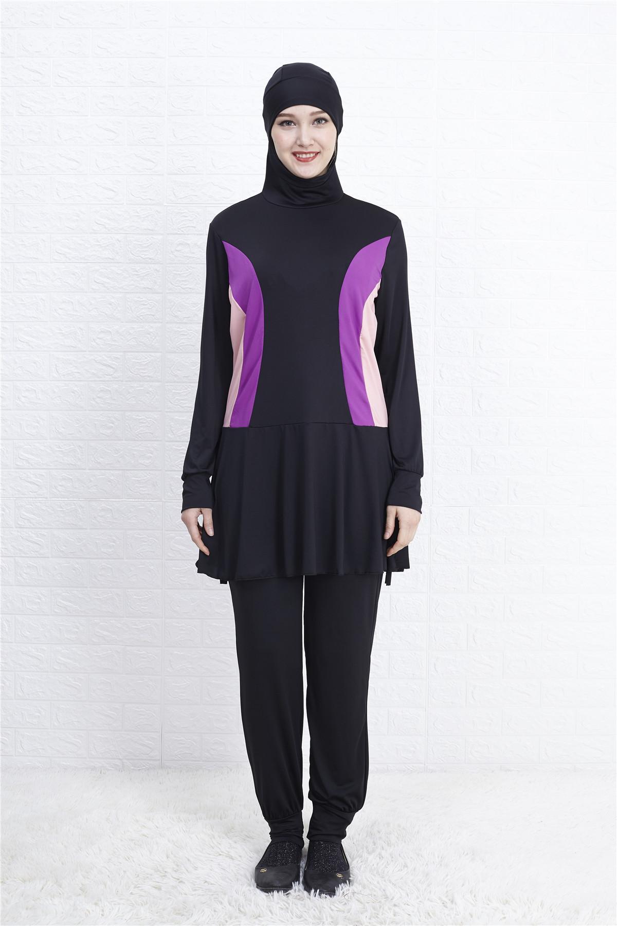 New Women Islamic Swimwear Muslim Swimsuit Burkini Modesty Full Cover Beachwear
