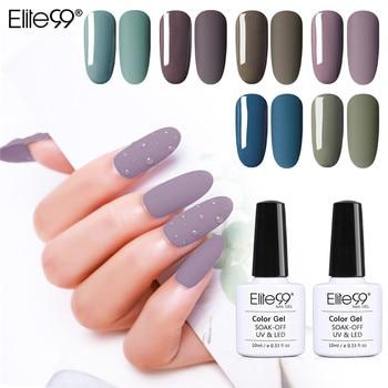 Elite99 Matte Farbe UV Gel Nagellack 10ml Reine Soak Off Nail art UV Gel Lack Top Basis Mantel lack Primer Gel Lack