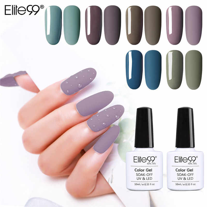 Elite99 10ml mate capa superior Color esmalte de uñas de Gel UV serie gris semipermanente remojo de UV Gel barniz DIY uñas arte Gel pintura