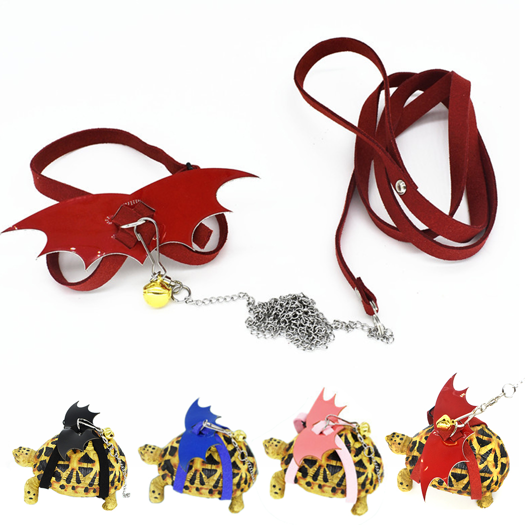 Leashes Small Animal Harness Leash Set The Tortoise Skating Traction Rope Multi-Use Wings Pet Harness With Leash For Turtle