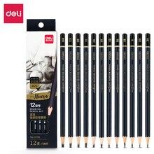 Drawing-Pencil-Set Wooden Sketch Charcoal Stationery Art-Supplies Professional 12pcs/Set
