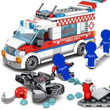 купить Sembo 601303 Building Blocks City Street View Ambulances Truck Car Motorcycle DIY Model kit bricks Educational Toys for Children в интернет-магазине