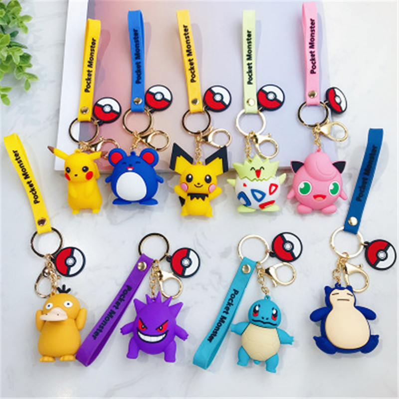 anime-figure-font-b-pokemon-b-font-go-pikachu-keychain-cute-cartoon-pvc-pocket-monsters-pikachu-pendant-key-chain-bag-ornaments