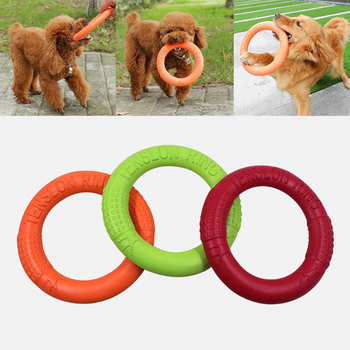 Dog Toys Flying Discs Pet Interactive Training Ring Dog Portable Outdoor for Small Large Dog Chew Toys Pet Motion Tools Products 2