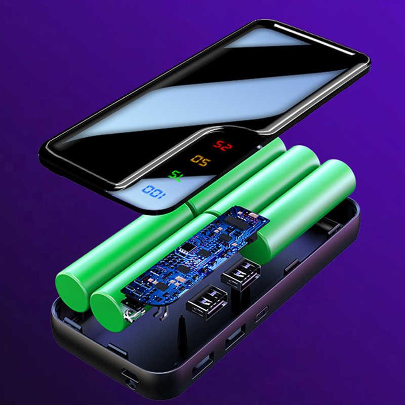 20000mAh Power Bank 5*18650 Battey Powerbank cargador de doble puerto USB batería externa Poverbank portátil para iPhone 6 7 8 X Xiaomi