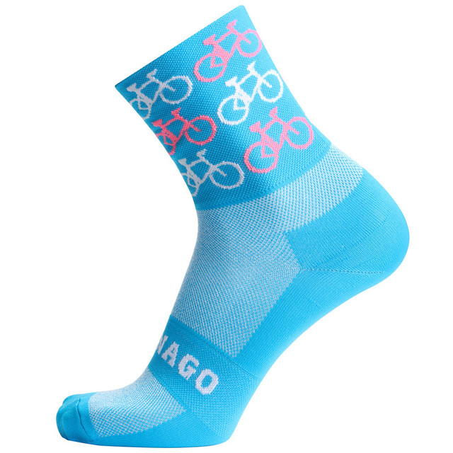 2019 qualidade marca profissional esporte pro meias de ciclismo confortável meias de bicicleta de estrada meias de corrida de montanha 4