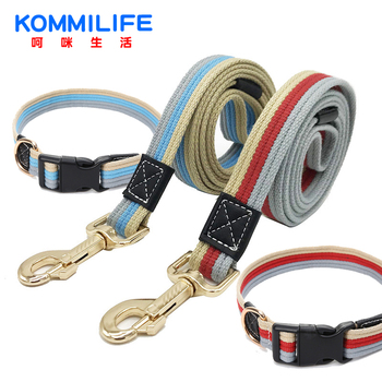 Thick Canvas Pet Dog Leash Collar Adjustable Bust Collars and Set Tracking leash Small Medium Large