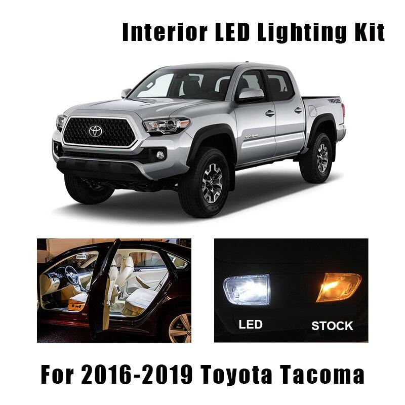 For 2016 2017 2018 Toyota Tacoma LED Lights Interior Package Kit WHITE 10PCS