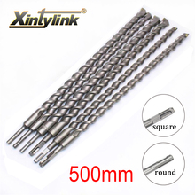 цена на xintylink Chrome steel percussion drill bit Cement drill hole saw Wall Drill Square shank for Building site