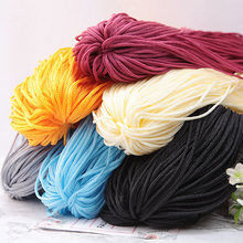 200m Multicolor DIY Hollow Line Knitting Thread Nylon Mercerized Silk Weaving Hook Woven Hollow Line Hand-embroidered Threads(China)