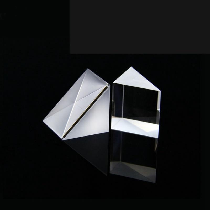 Right Angle Isosceles Prisms Lens Optical K9 Glass 10*10*10mm Optical Glass Triangular Prisms Material Testing Instrument