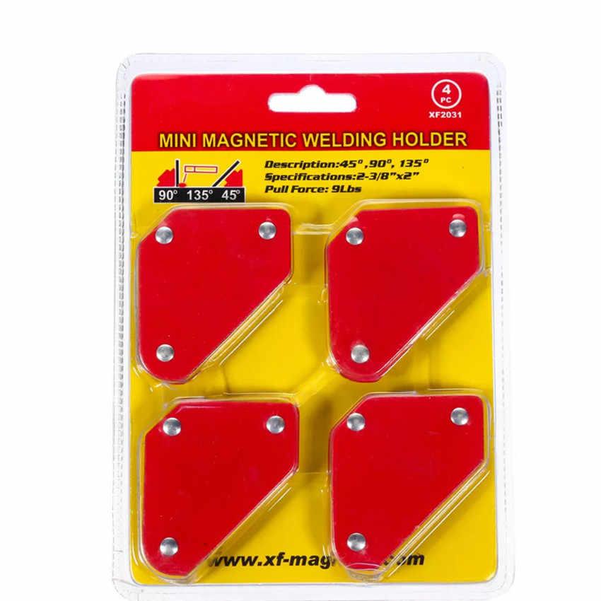 Mini positionneur de soudage Triangle 4 pièces/ensemble 9Lb outils de localisation de soudure à Angle fixe magnétique sans soudure par interrupteur