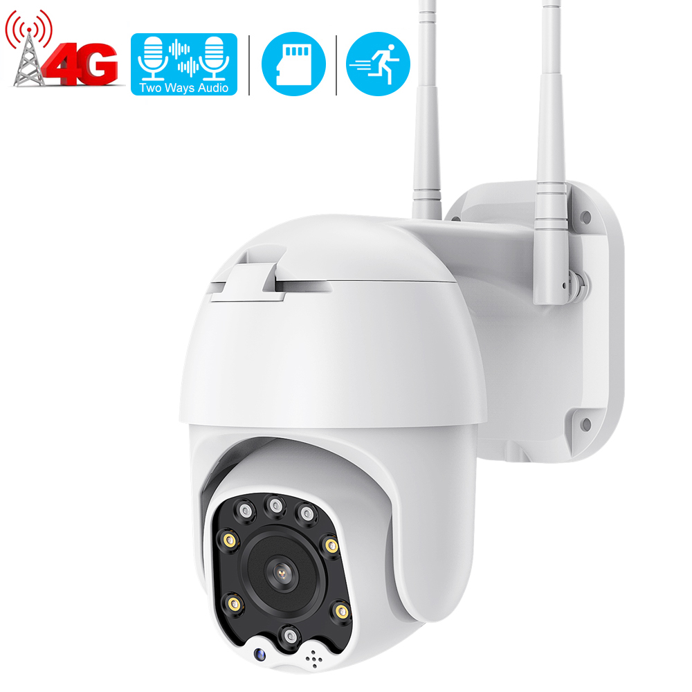 4G Camera Sim-Card WIFI CCTV Security Outdoor Icsee Night-Vision 1080P IR Hd Ptz 30M title=