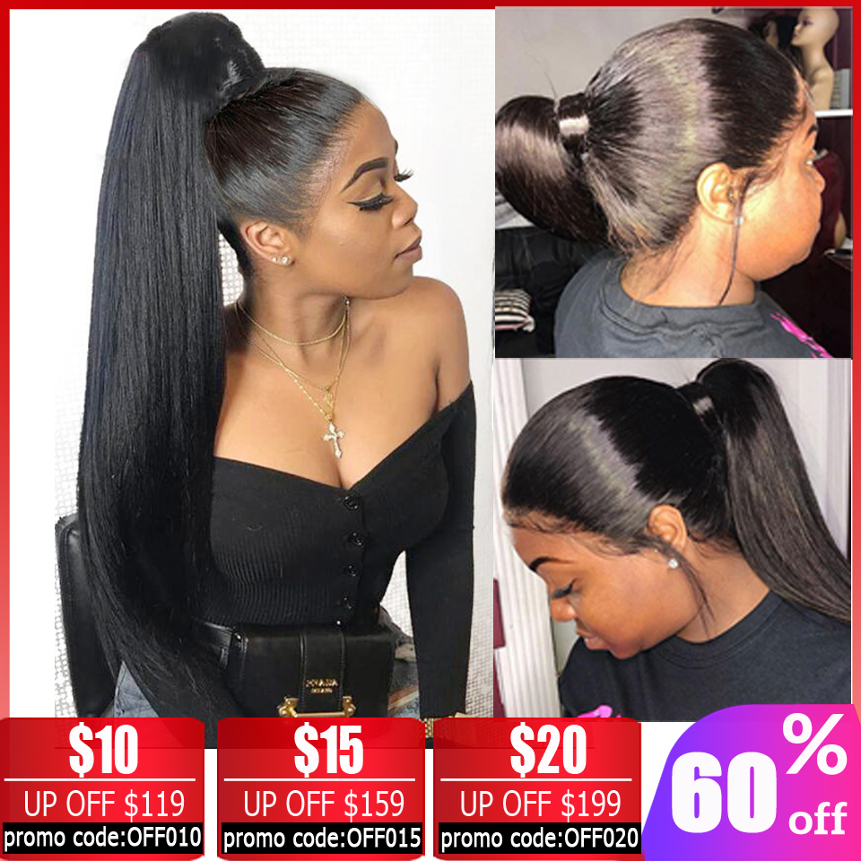 360 Lace Frontal Wig 28 30 Inch Wig Brazilian Straight Lace Front Wig Lace Front Human Hair Wigs For Black Women Free To Brazil