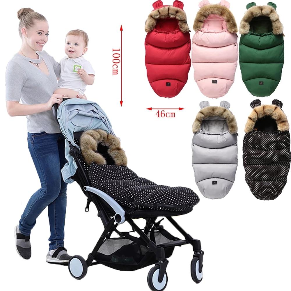 0-24M Baby Sleeping Bag Stroller Winter Windproof Thick Sleep sacks For Infant wheelchair envelopes newborns Cocoon For Newborns