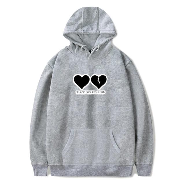 YUNGBLUD BLACK HEART CLUB HOODIE (6 VARIAN)