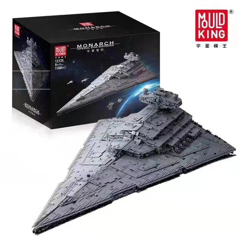 Compatível legoed 75252 star brinquedos guerras final coletor max imperial destroyer modelo kit blocos de construção MOC-23556 tijolos presente
