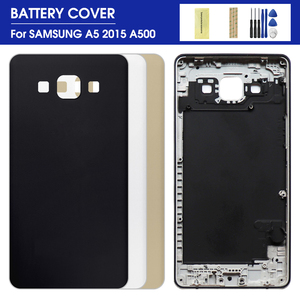 New Metal Back Battery Cover Case Door Housing Cover Frame For Samsung Galaxy A5 2015 A500 A5000 SM-A500F A500FD A500H