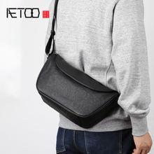 Кожаная сумка на плечо в стиле ретро aetoo повседневная кожаная