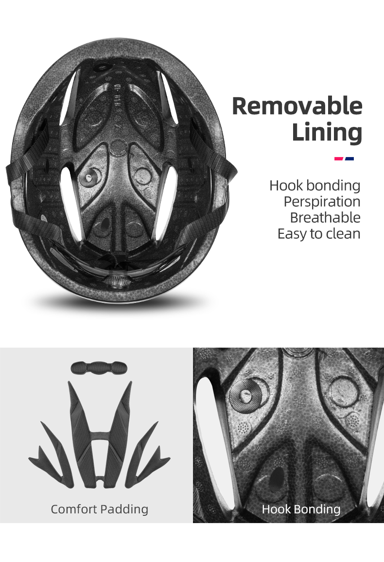 ROCKBROS Bicycle Helmet Men EPS Integrally-molded Breathable Cycling Helmet Men Women Goggles Lens Aero MTB Road Bike Helmet