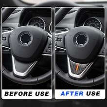 Для BMW X1 2016 F48 2017 F52 F45 F46 X2 Автомобильная наклейка на руль из углеродного волокна автостайлинг установка M производительность украшение прошл...