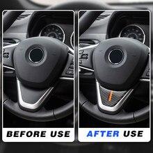 Para bmw x1 2016 f48 2017 f52 f45 f46 x2 carro de fibra carbono volante adesivo estilo automático reequipamento m desempenho decoração passado