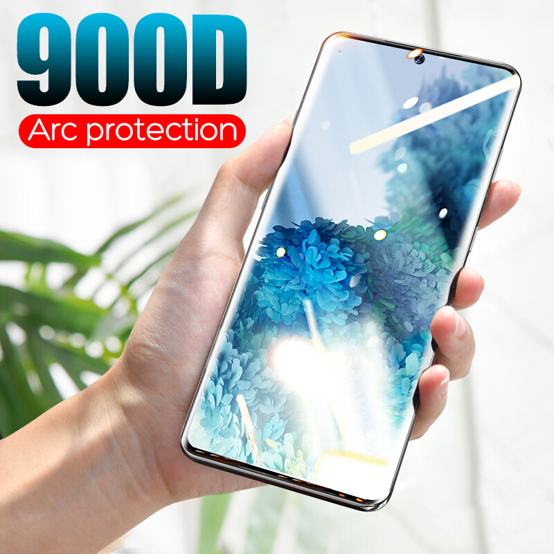 900D Curved Tempered Glass For Samsung Galaxy S8 S9 S20 Ultra Plus Full Coverage For Samsung Note8 9 10 S7 Edge Screen Protector image
