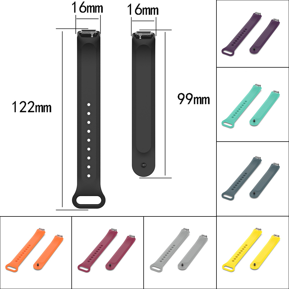 Sport Silicone Strap Band Watchband For Fitbit Inspire /  Inspire HR Smart Bracelet Replacement Watch Band 16mm Wristband Strap