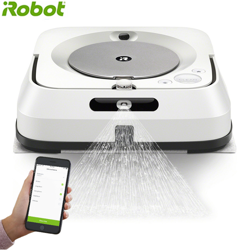 IRobot M6 Remote Control Wiping Robot Sweep&Wet Mop For Hard Floors&Carpet Pet Hair Wiping Sweeping Machine With 6 Mops
