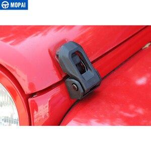 Image 3 - MOPAI Auto Motor Lock für Jeep Wrangler 2007 Up Auto Hood Latch Lock Fangen Abdeckung Schützen für Jeep Wrangler JK zubehör Styling