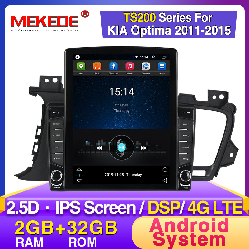 MEKEDE Tesla Style Car Radio For Kia Optima 3 K5 2011 2012 2013 2014 Car Radio Multimedia Video Player GPS No 2din Android DVD