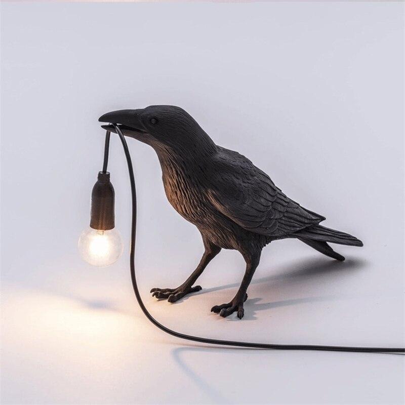 Nordic Modern Resin Bird Table Lamp Italian Bird Lamp Raven Desk Lamp Free Shipping For Bedroom Children's room Light home Decor|Desk Lamps| - AliExpress