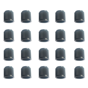 20PCS Black Plastic Auto Car Wheels Tire Valve Stem Cap Lid Air image
