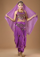 New Belly Dance Outfits Women's Festival Performance Chiffon Suit Square Dance Indian Dancing Costume Autumn and Winter Style