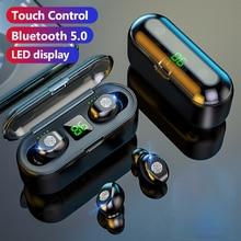 DODOCASE F9 Bluetooth kulaklık 2000mAh kablosuz kulaklık 9D Stereo spor su geçirmez kulaklıklar mikrofonlu kulaklıklar