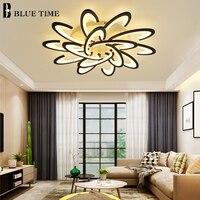 Nova chegada branco & preto moderno led luzes de teto para sala estar quarto acrílico lâmpada do teto lustres iluminação para casa
