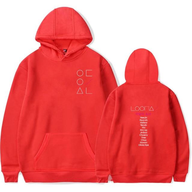 LOONA The Same Style sweatshirt hoodies women men cotton long sleeve sweatshirts hoodie plus size S-4XL Jacket coat kpop clothes 5