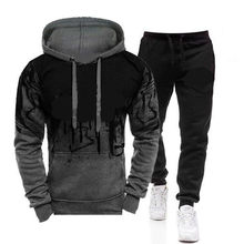 Spring Men's Hooded Sweater Set 2-piece Hooded Sweatshirt + Pants Pullover Hooded Sportswear Set Casual Men's Clothes Size M-3XL