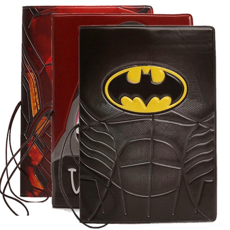 Cartoon Batman Passport Cover Wallet Bag Travel Accessories Cute Women PU Leather ID Address Holder Portable Boarding Card Cover