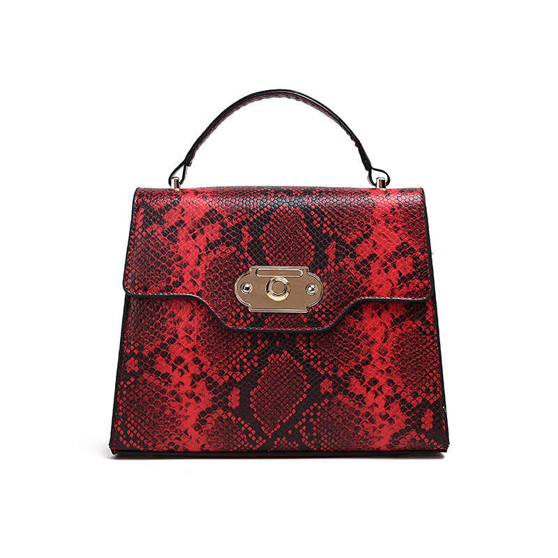 Женские Наплечные кошельки и сумки, маленькая сумка из змеиной кожи, женская сумка 2019, новая сумочка с застежкой на коленях, модная квадратная сумка в стиле ретро