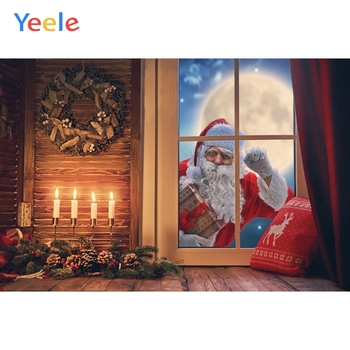Christmas Backdrop Window Santa Claus Baby Photography Backdrops Photographic Background For Photo Studio Vinyl Photophone Prop