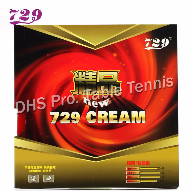 RITC 729 New CREAM (729 Cream) Pips-In Table Tennis (PingPong) Rubber With Sponge
