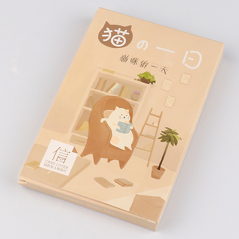 30 Pcs/lot Cute Cat's Day Greeting Cards Postcards Cartoon Card Office School Supplies